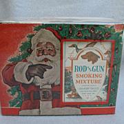 Vintage Rod and Gun Smoking Mixture Store Display Santa Claus