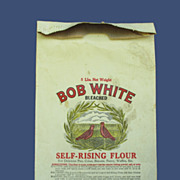 Early 1900's Bob White Flour Bag