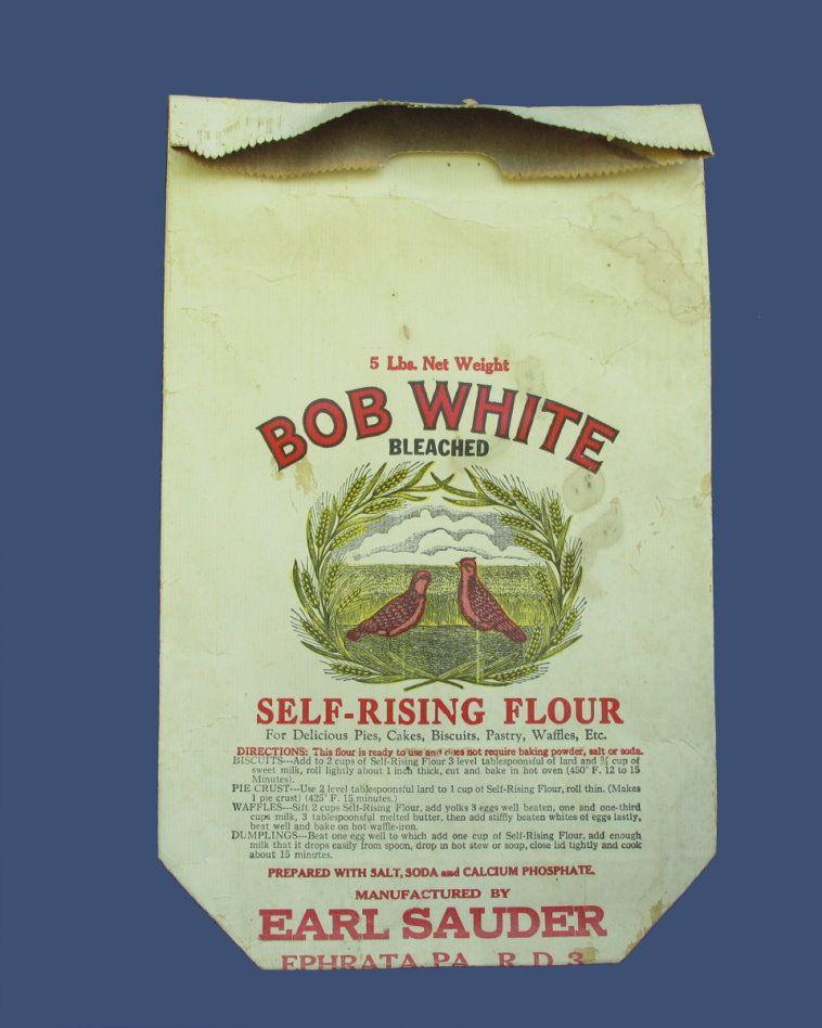 Early 1900's Bob White Flour Bag