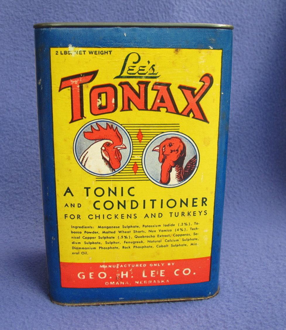Vintage Tonax Chicken 'n Turkey Conditioner Tin w/ Contents
