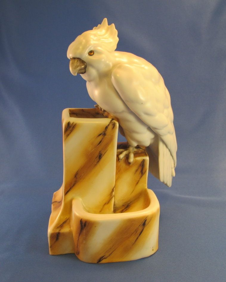 Rare Early 1900's Saxony Cockatoo *On Hold for Ann*