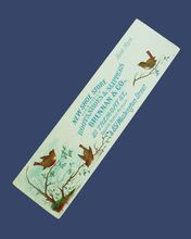 Turn of the Century Advertising Shoe Store Bookmark w/ Wren - Red Tag Sale Item
