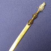 Turn of the Century Bronze 'n Brass Cockatoo Letter Opener