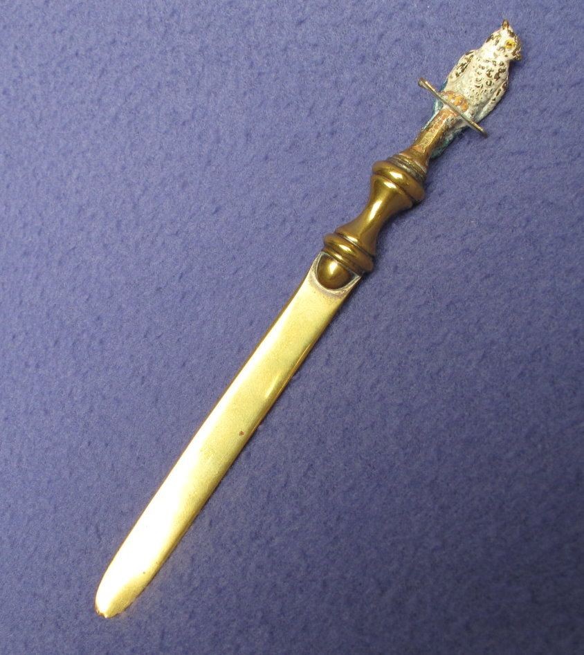 Turn of the Century Bronze 'n Brass Cockatoo Letter Opener