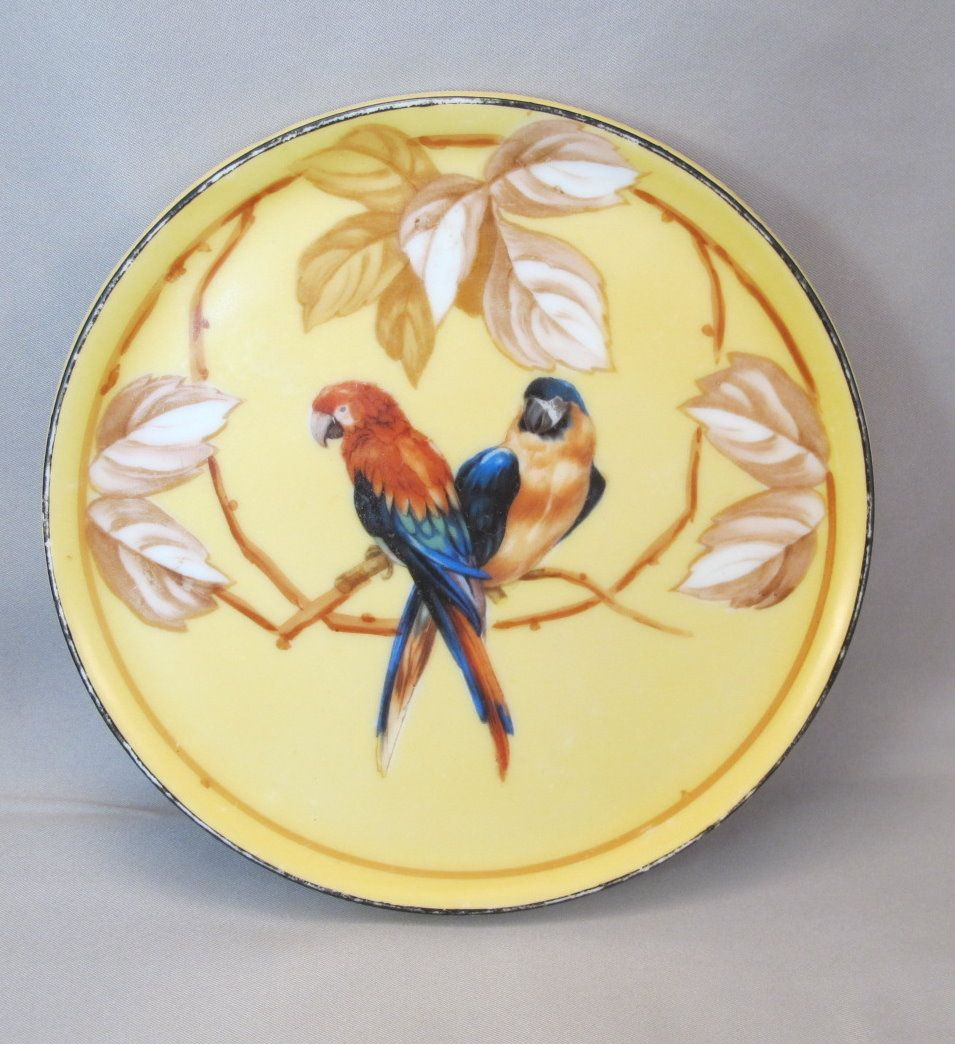 Early 20th Century RS Tillowitz Macaw Parrot Trivet