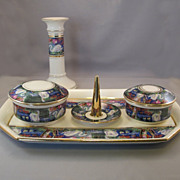 English 5 Piece Swan Vanity Set