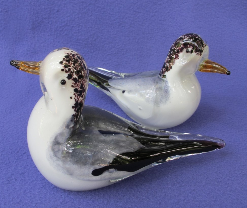 Vintage Nautical Glass Seagull Pair