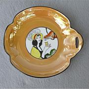 Art Deco Noritake Lady 'n Parrot Candy Dish