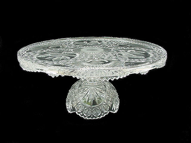 Hofbauer Byrdes Crystal Cake Plate