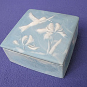 1970's Artist Signed Hummingbird Trinket Box