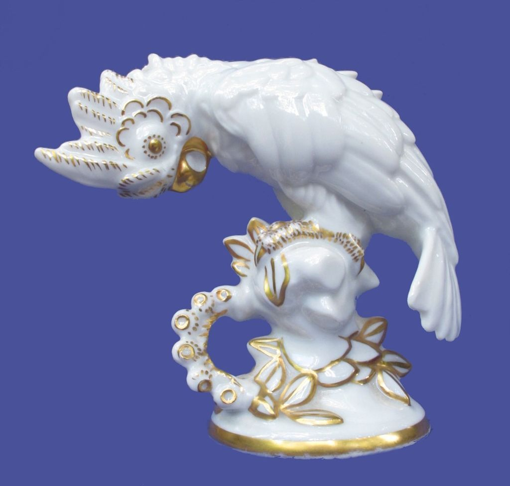 Art Deco Hutschenreuther Cockatoo Figurine from Germany