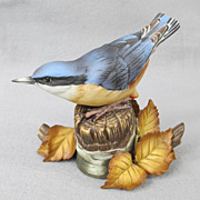 1987 Franklin Porcelain European Nuthatch
