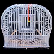 Vintage Mid-Century Lucite Birdcage