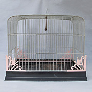1940's-50's Metal Birdcage w/ Duck Motif - Red Tag Sale Item