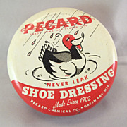 Vintage Pecard Duck Shoe Dressing Tin