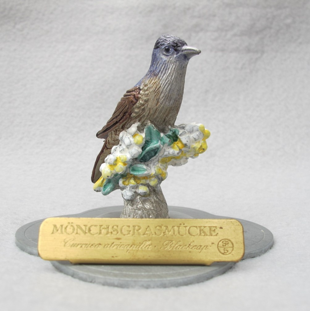 John Gould Blackcap Warbler in Pewter from Germany
