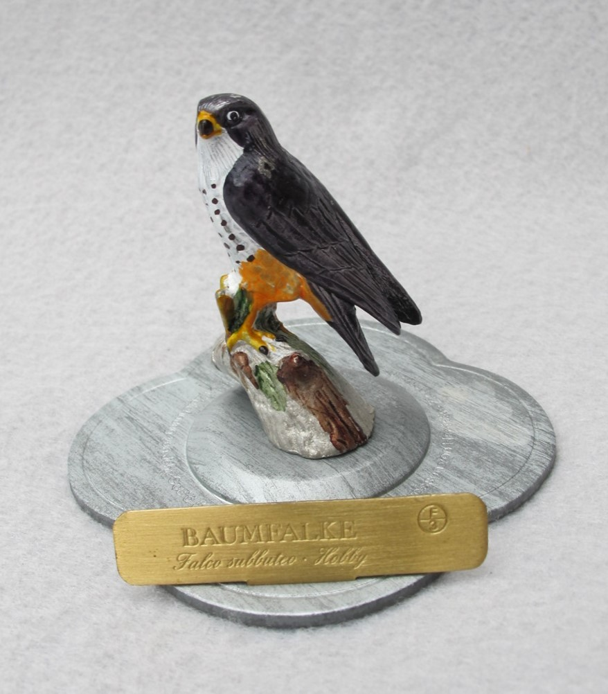Mini Pewter Hobby Falcon from Germany