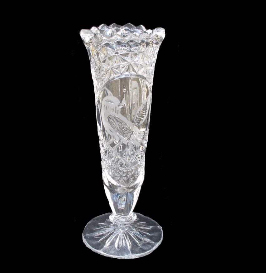 Byrdes Crystal Flower Vase