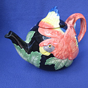 Fitz and Floyd Macaw Parrot Teapot