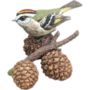 Lenox Porcelain Golden Crowned Kinglet Figurine