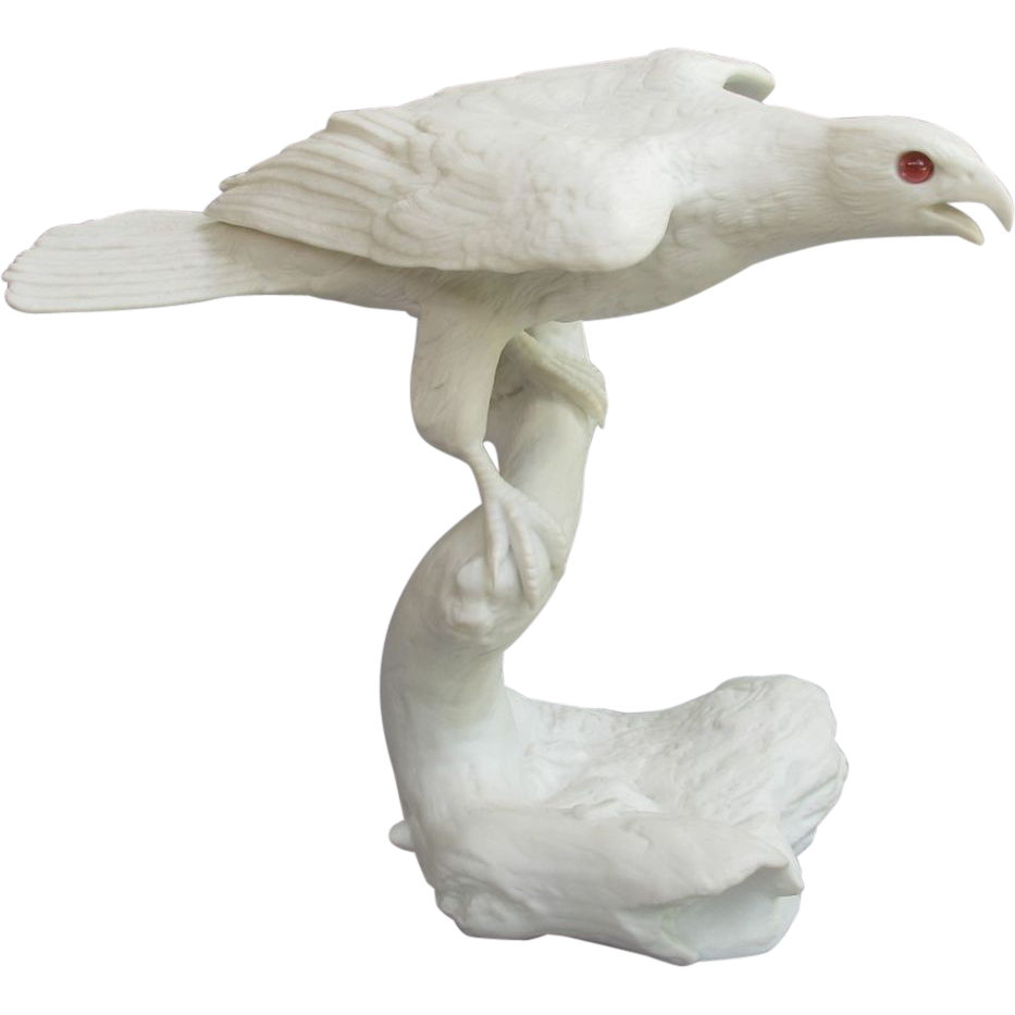 Franklin Porcelain Silent Hunter Goshawk Figurine