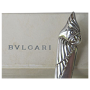 Bvlgari Sterling Silver Cockatoo Letter Opener