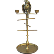 Antique Cockatoo Bobbin Jewelry Pocket Watch Holder Candelabra