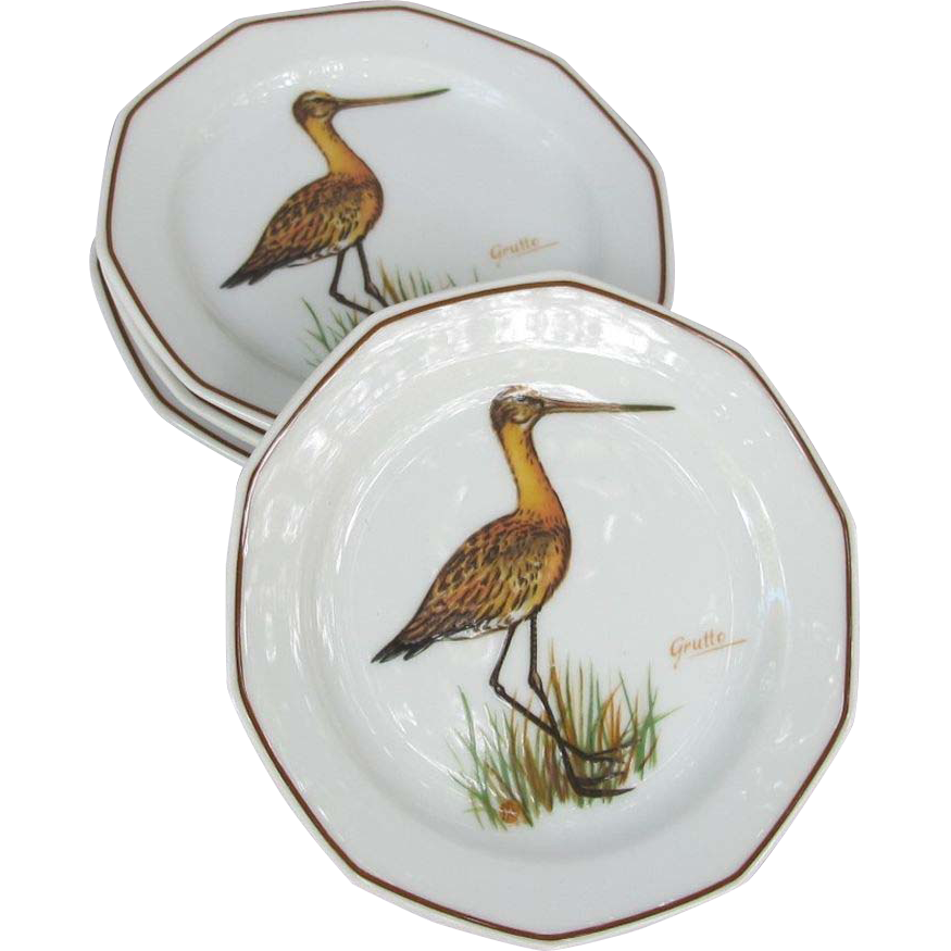 Sandpiper Tidbit Plate Set from Germany
