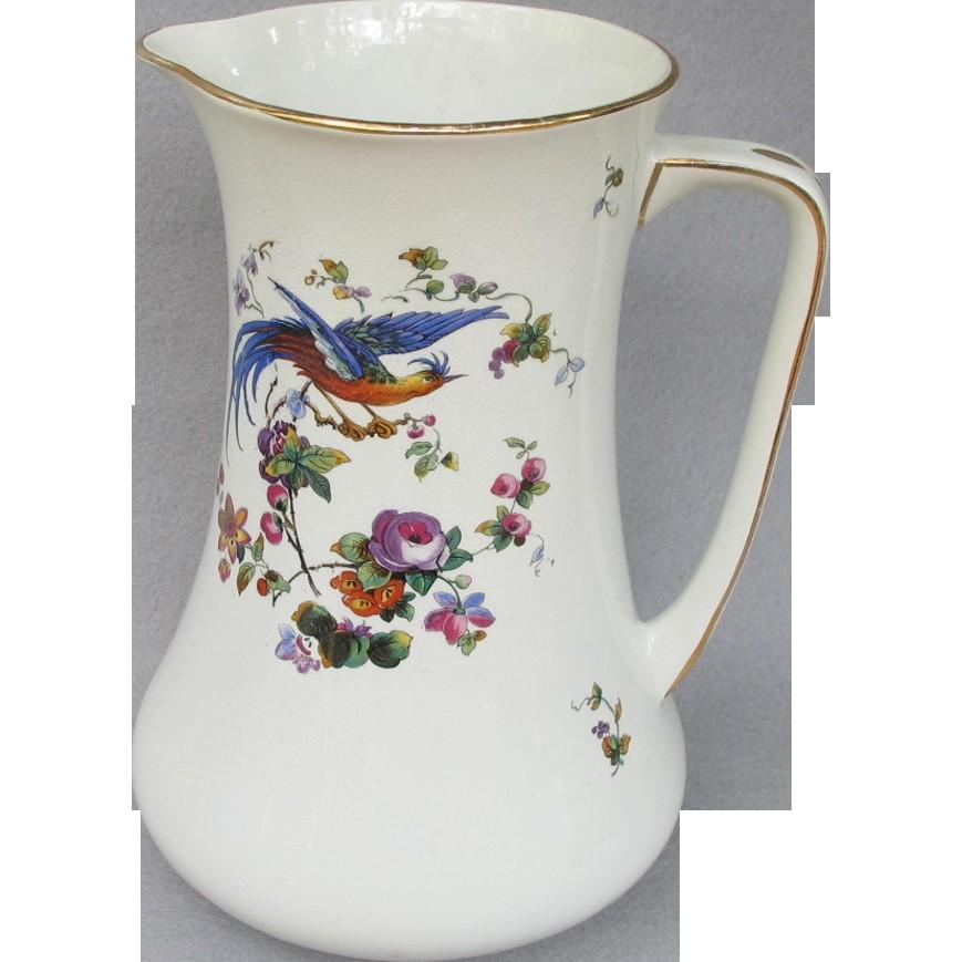 Large Bird of Paradise Porcelain Pitcher
