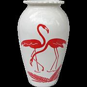 Anchor Hocking Vitrock Hoover Flamingo Vase