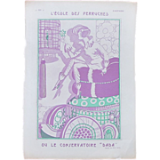 Art Deco French Woman Parakeet Magazine Cover