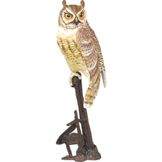 Royal Worcester Bronze and Bisque Horned Owl