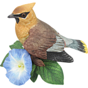 Lenox Cedar Waxwing with Morning Glory Figurine