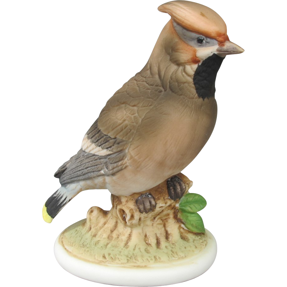 Lefton China Waxwing Figurine