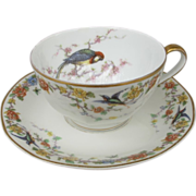 Limoges Haviland Arcadia Parrot Cup and Saucer