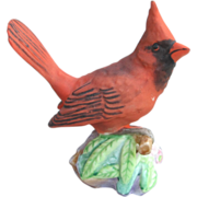Royal Worcester Red Male Cardinal Figurine
