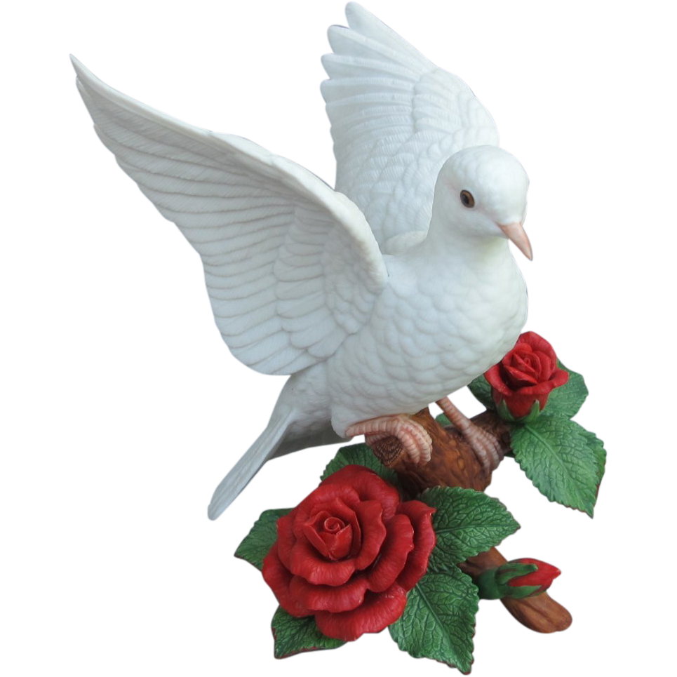 Lenox Christmas Dove With Roses Sold On Ruby Lane