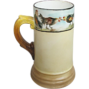 Turn of the Century Cock Fight Beer Mug