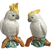 Fitz and Floyd Sulphur-crested Cockatoo Salt Pepper Set