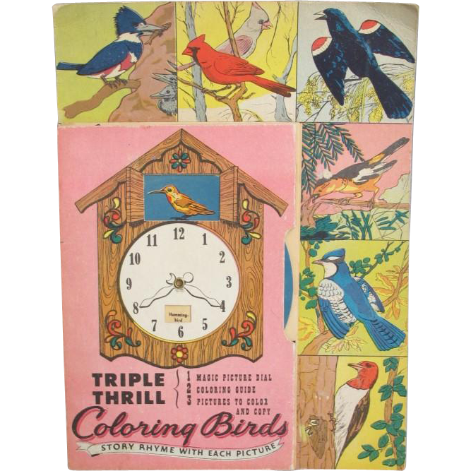 Vintage Coloring Birds Activity Book