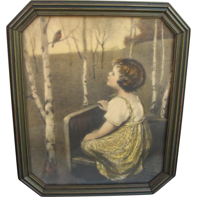 Spring Song Print in Octogonal Period frame
