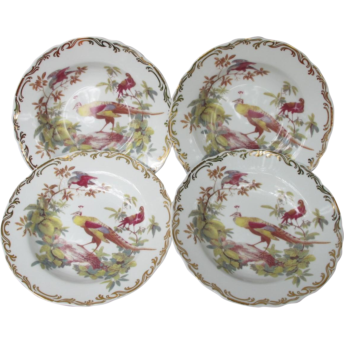 Rutherford's Birds Soup or Salad Bowls Set of Four