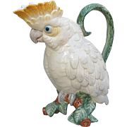 Fitz and Floyd Cockatoo Pitcher