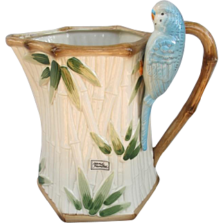 Fitz and Floyd Parakeet Budgie Pitcher