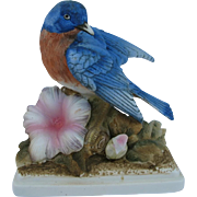 Lefton Bluebird with Flower Figurine