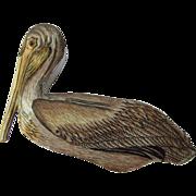 Hand Painted Metal Pelican Trinket Box with Amethyst Eye