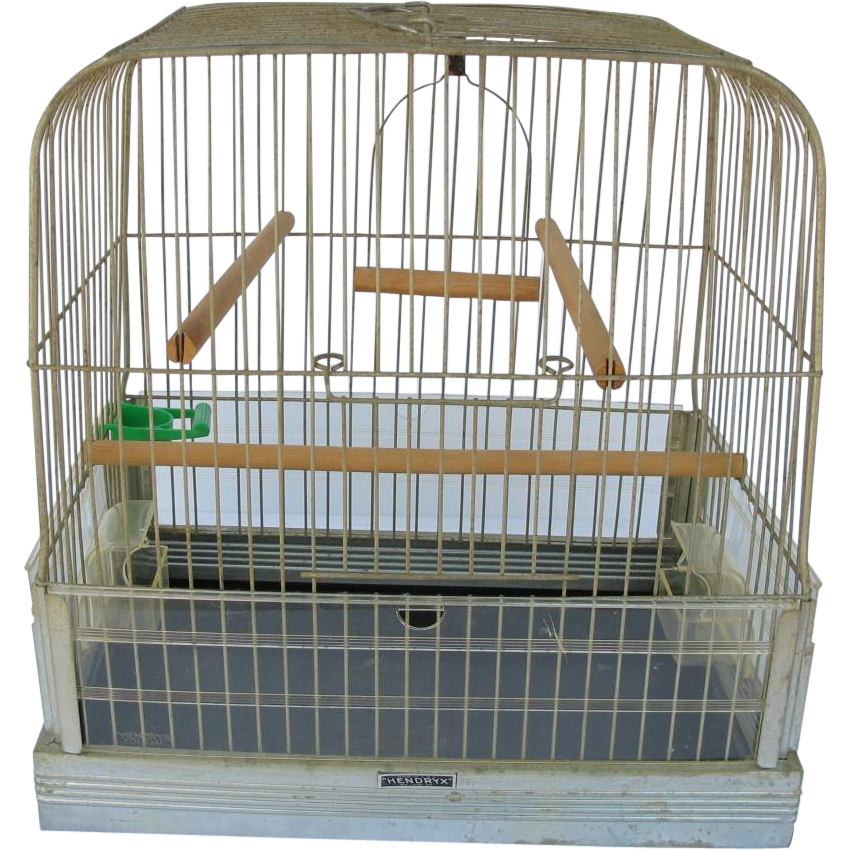 Mid Century Hendryx Bird Cage with Original Cups - HOLD for Grady