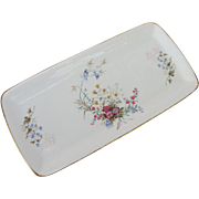 Royal Kent England Bluebird Flowers Vanity Tray