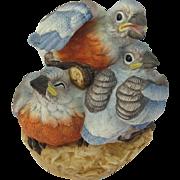 Andrea Sadek Baby Bluebirds Figurine