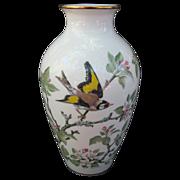 Basil Ede European Goldfinch Crabapple Blossom Vase